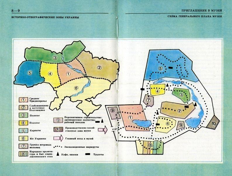 Этнографическое районирование Украины и схема музейной экспозиции