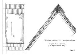 Мал.3. Покриття дошкою й сніпками