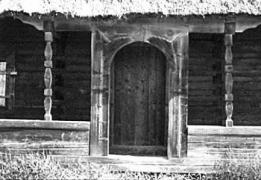 Вхід на галерею хати 1909 р. з Бойківщини, НМНАПУ